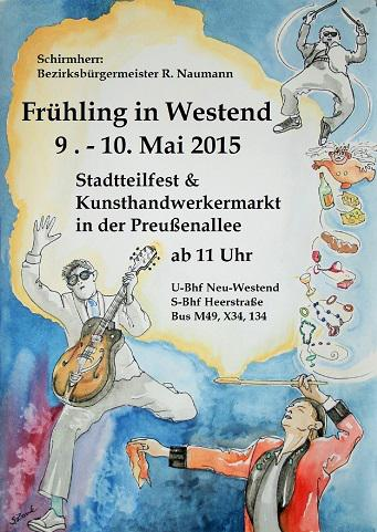 """Wald-Gymnasium–Musiker beim """"Frühling in Westend"""""""