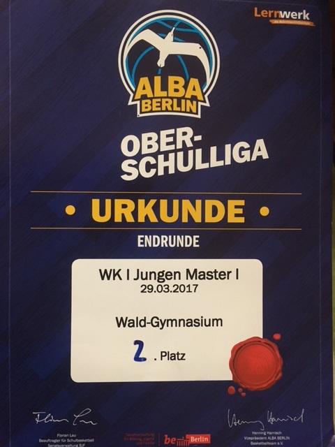 Basketball: 2. Platz bei Berliner Meisterschaften