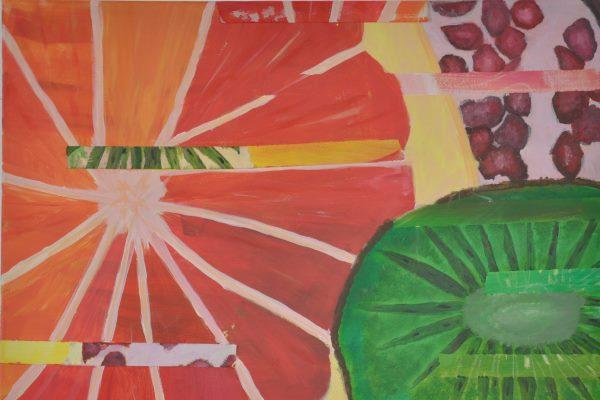 Kunst: Werke einer 8. Klasse – Vitamine im Detail - slide 2