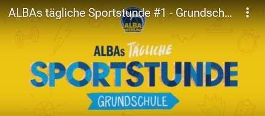 Trotz Corona in Bewegung bleiben: ALBA Berlins tägliche Sportstunde | YouTube | 11h